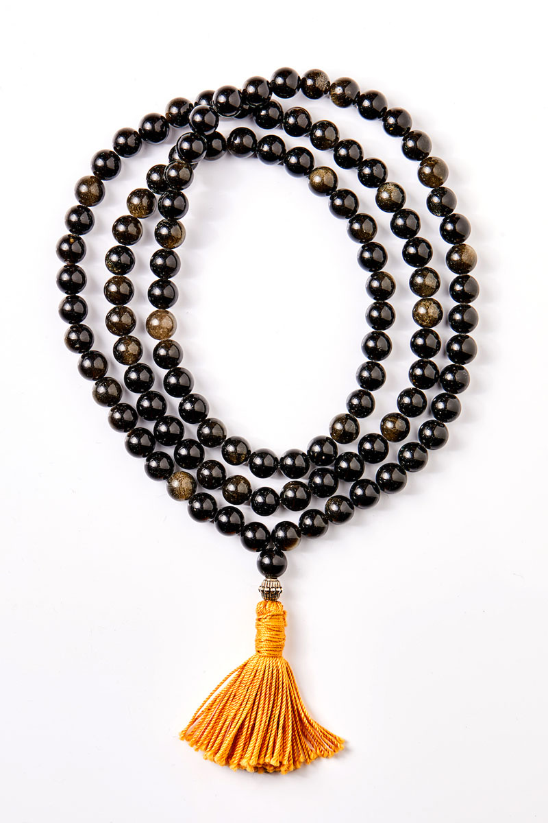 Aranyfényű Obszidián Mala 108 Szemes
