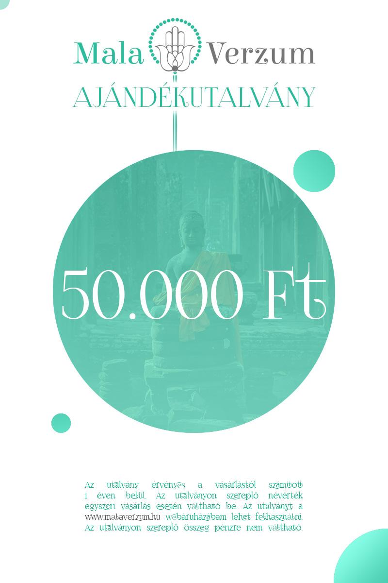 50,000Ft értékű ajándékutalvány