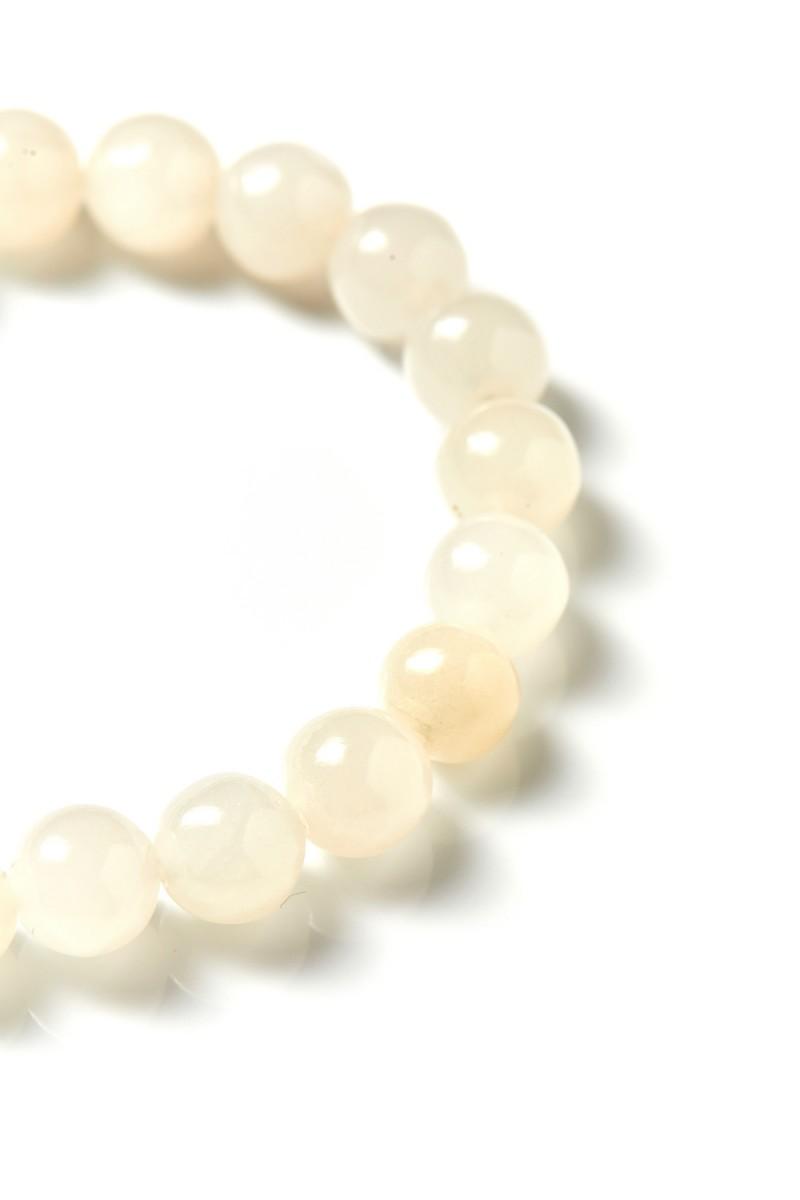 Fehér Jade Mala 21 szemes